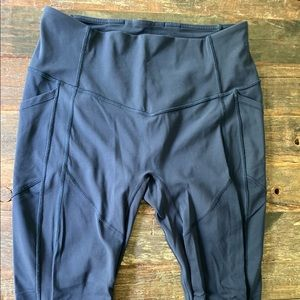 Navy lululemon all the right places legging size10